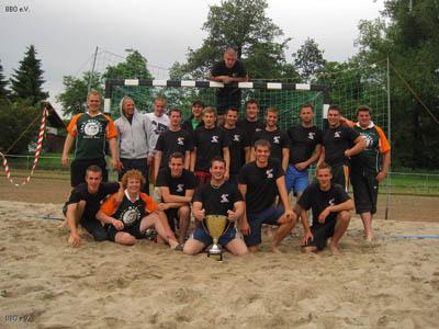 Die BBO Mannschaften des beachhandballturniers