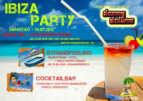 Flyer Ibizaparty Ottersheim