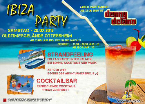 Ibizaparty Ottersheim Flyer