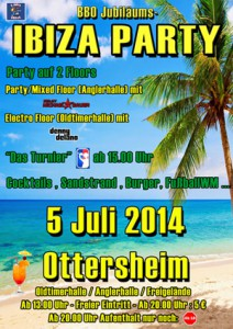 Flyer Ibizaparty BBO 2014