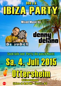 Flyer Ibiza Party Ottersheim