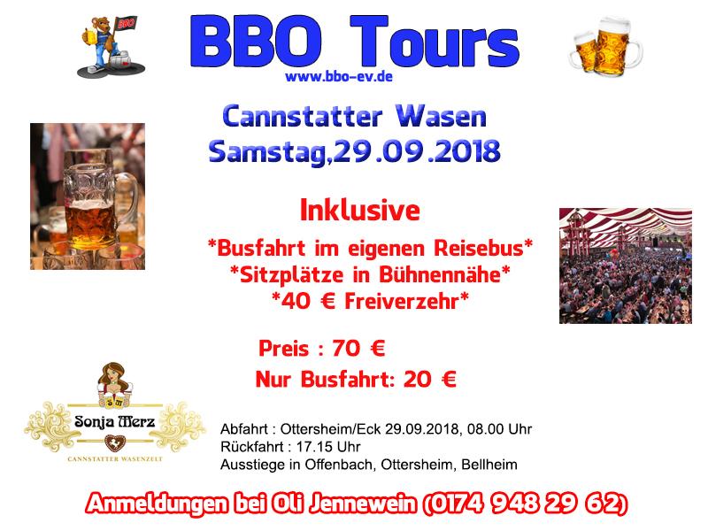 BBO Fahrt Cannstatter Wasen 2018