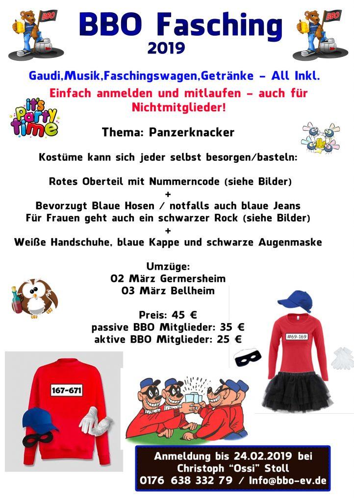 Fasching 2019 Mit Dem Bbo Bbo E V Ottersheimer Verein Fur Party